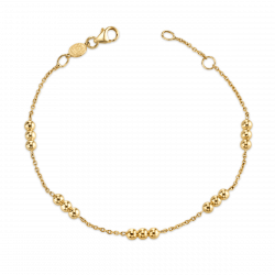 Dainty Triple Gold Bead Bracelet