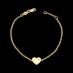 Birthstone Heart Bracelet
