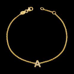 Pave Letter Bracelet