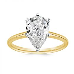 Classic Pear Cut Golden Engagement Ring