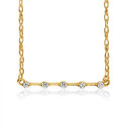 Petite Distance Necklace - Five Stone
