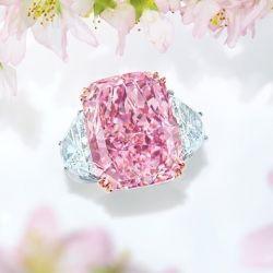 Fancy Vivid Purple-Pink Engagement Ring