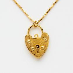Sterling Silver Lovelock Necklace