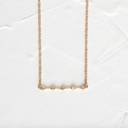 Petite Distance Necklace - Five Stone