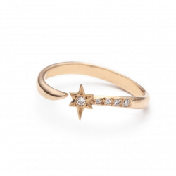 Sterling Silver Falling Star Ring