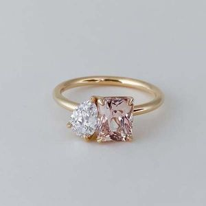 Yellow Gold Radiant & Pear Cut Engagement Ring