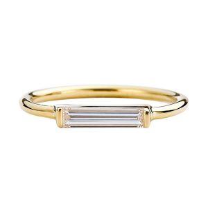 Long Baguette Solitaire Ring