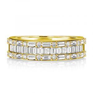 Baguette Wedding Band Ring